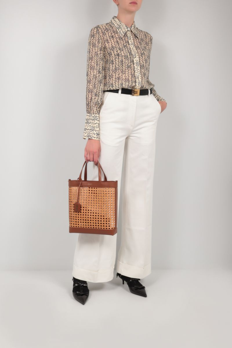 GUCCI: organic cotton flared pants Color White_2