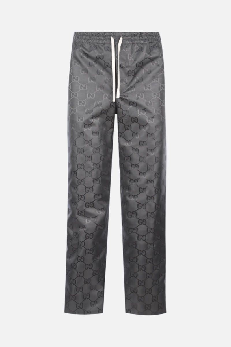 GUCCI: Off The Grid pants in GG nylon Color Grey_1