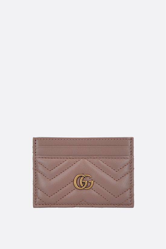 GUCCI: GG Marmont quilted leather card case Color White_1