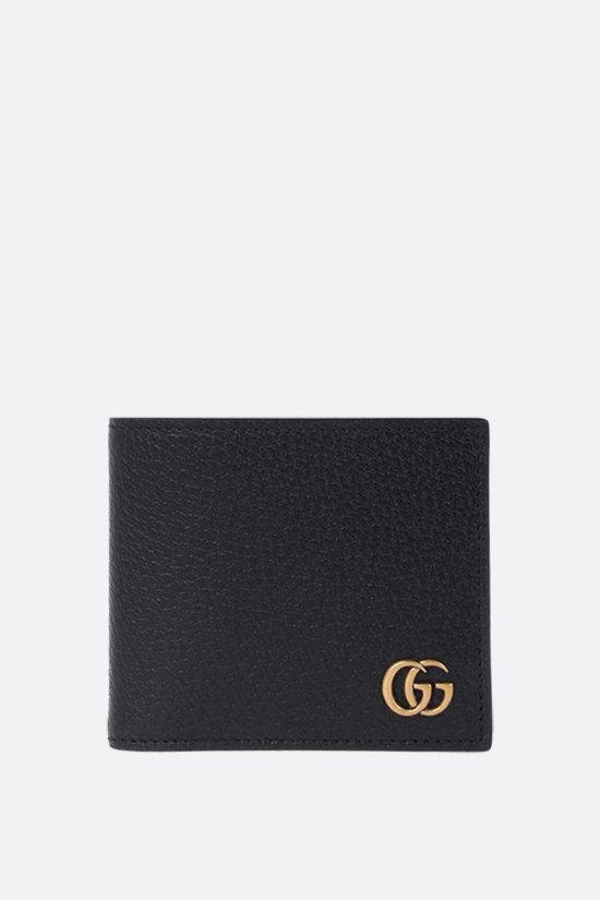GUCCI: GG Marmont grainy leather billfold wallet Color Black_1