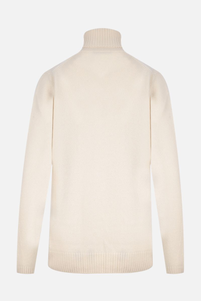 GUCCI: Double G-detailed wool turtleneck Color White_2