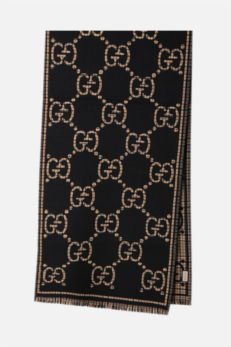 GUCCI: GG wool scarf Color Black_2
