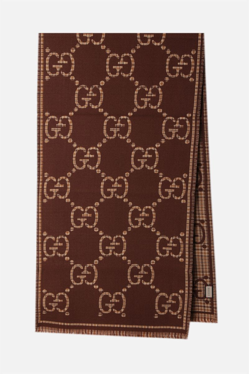 GUCCI: GG wool scarf Color Brown_2