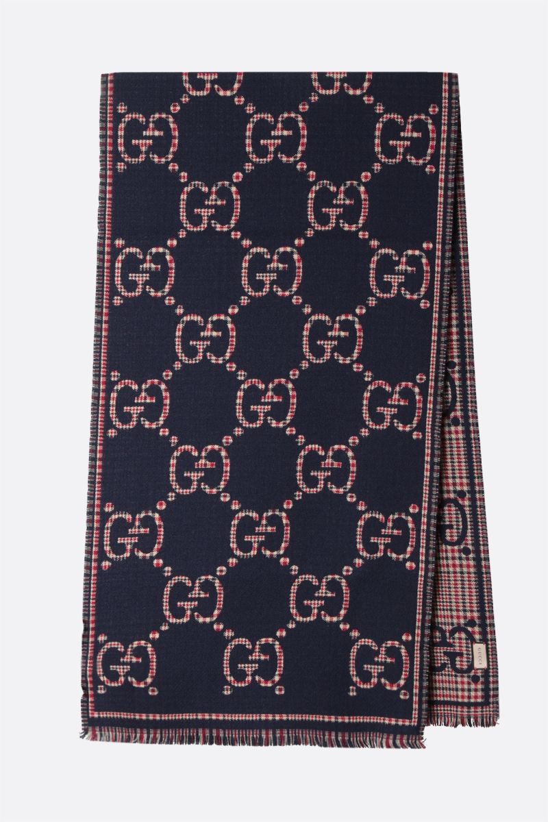 GUCCI: GG wool scarf Color Blue_2