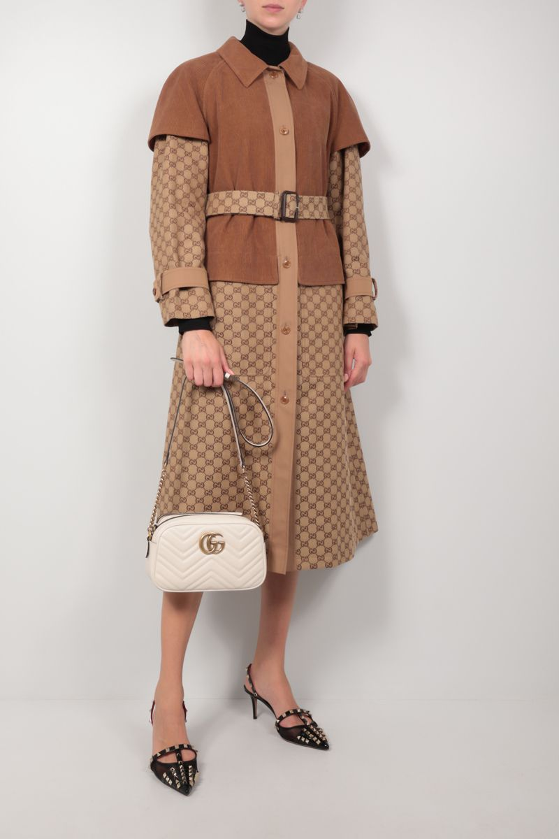 GUCCI: trench coat in Original GG fabric and corduroy Color Neutral_2