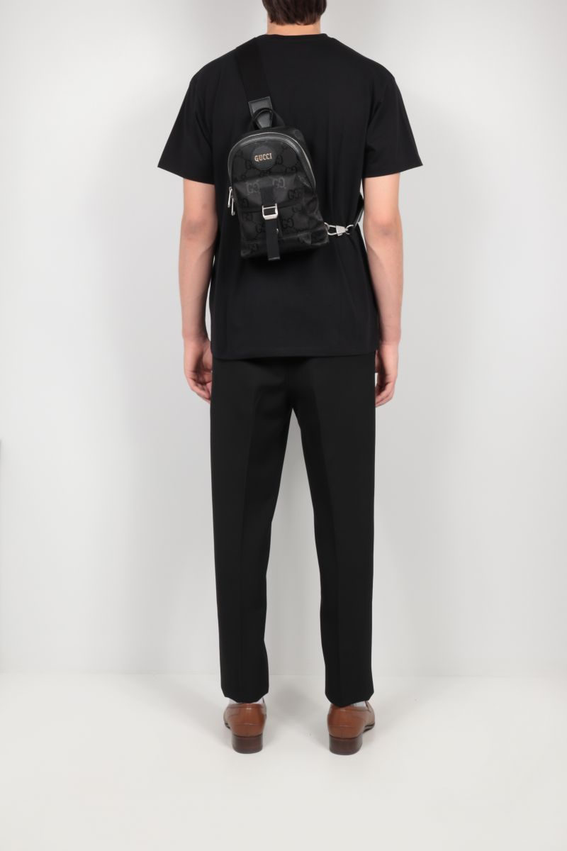 GUCCI: Gucci Off The Grid one-shoulder backpack in ECONYL® Color Black_2