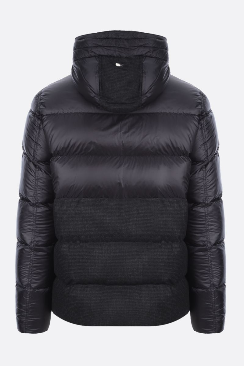 HERNO: nylon and technical wool down jacket Color Black_2