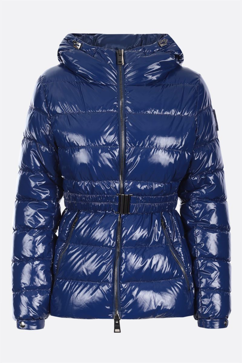 HERNO: glossy nylon down jacket Color Blue_1