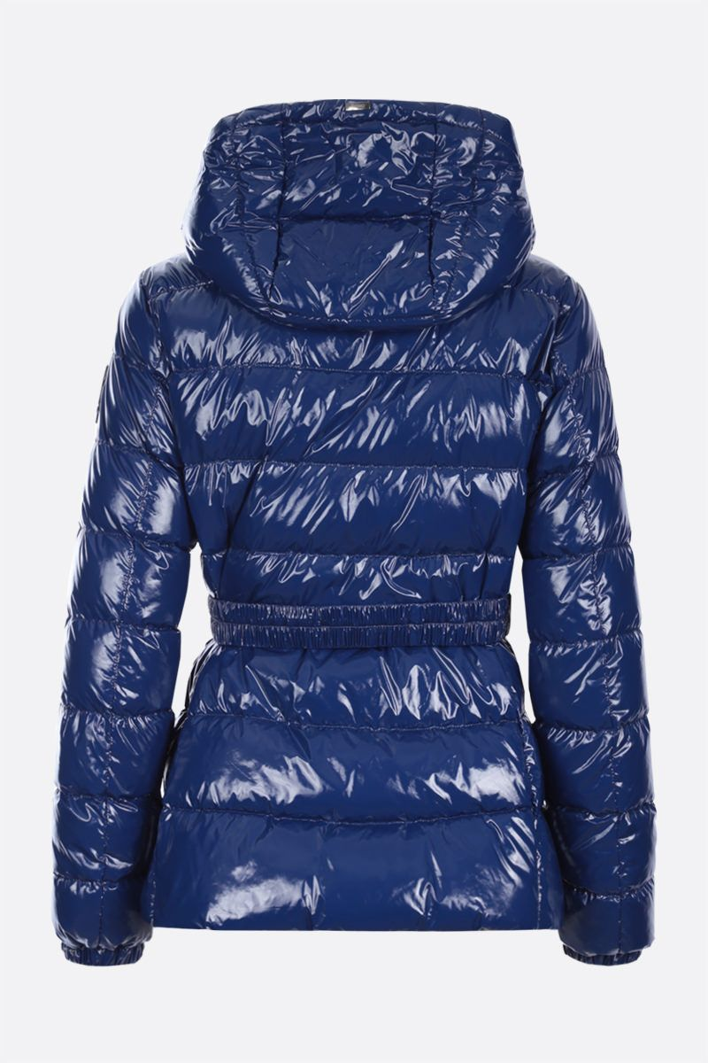 HERNO: glossy nylon down jacket Color Blue_2