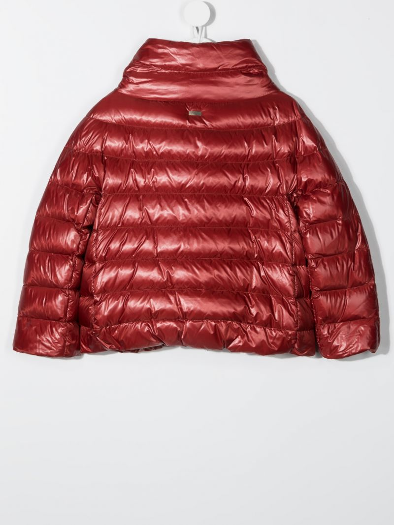 HERNO KIDS: nylon down jacket Color Red_2