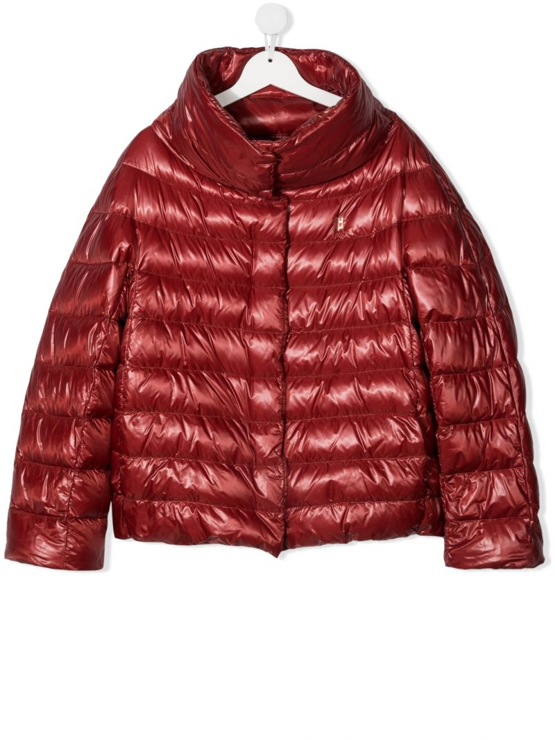 HERNO KIDS: nylon down jacket Color Red_1
