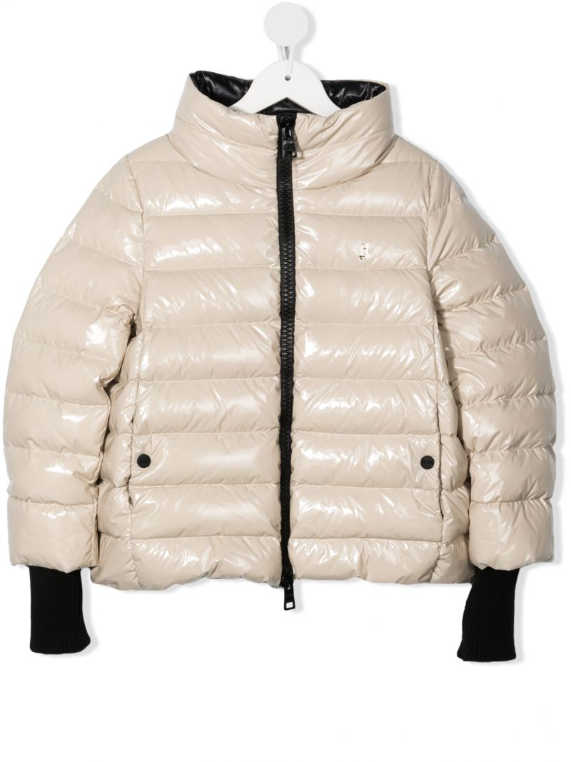 HERNO KIDS: glossy nylon down jacket Color Neutral_1