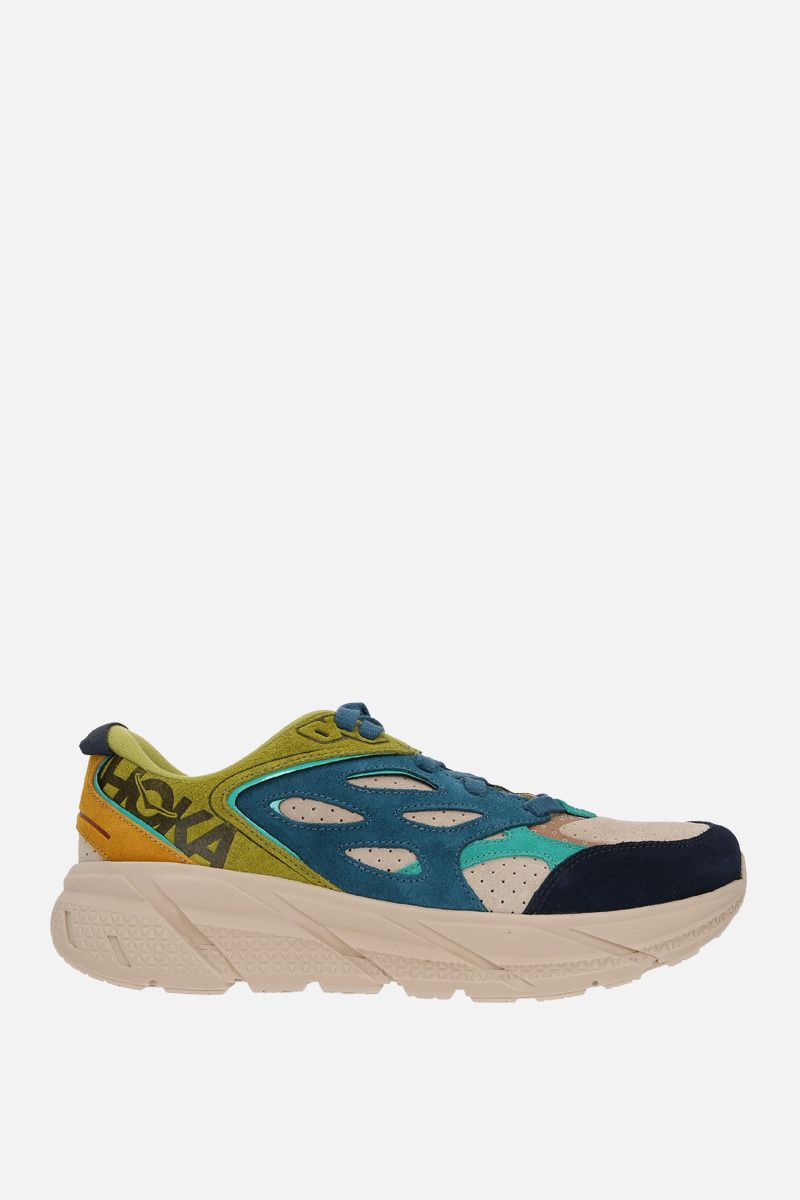 HOKA ONE ONE: sneaker Clifton L in suede Colore Multicolore_1