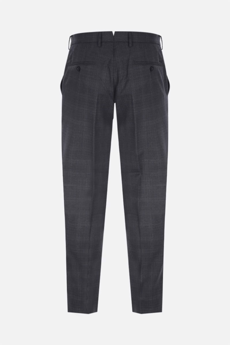 INCOTEX: slim-fit check technical wool pants Color Grey_2