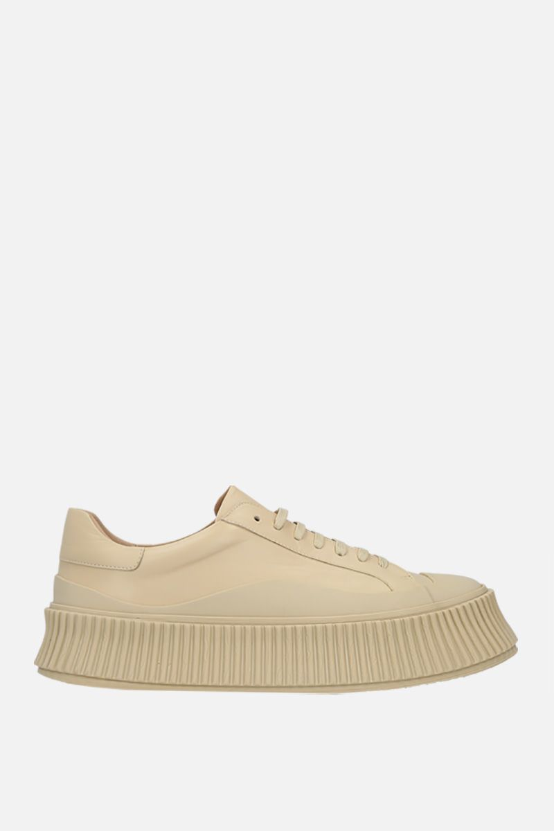 JIL SANDER: smooth leather and rubber low-top sneakers Color Neutral_1