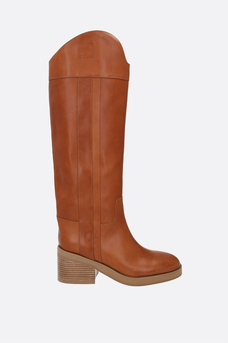 JIMMY CHOO: Tonya smooth leather boots Color Brown_1