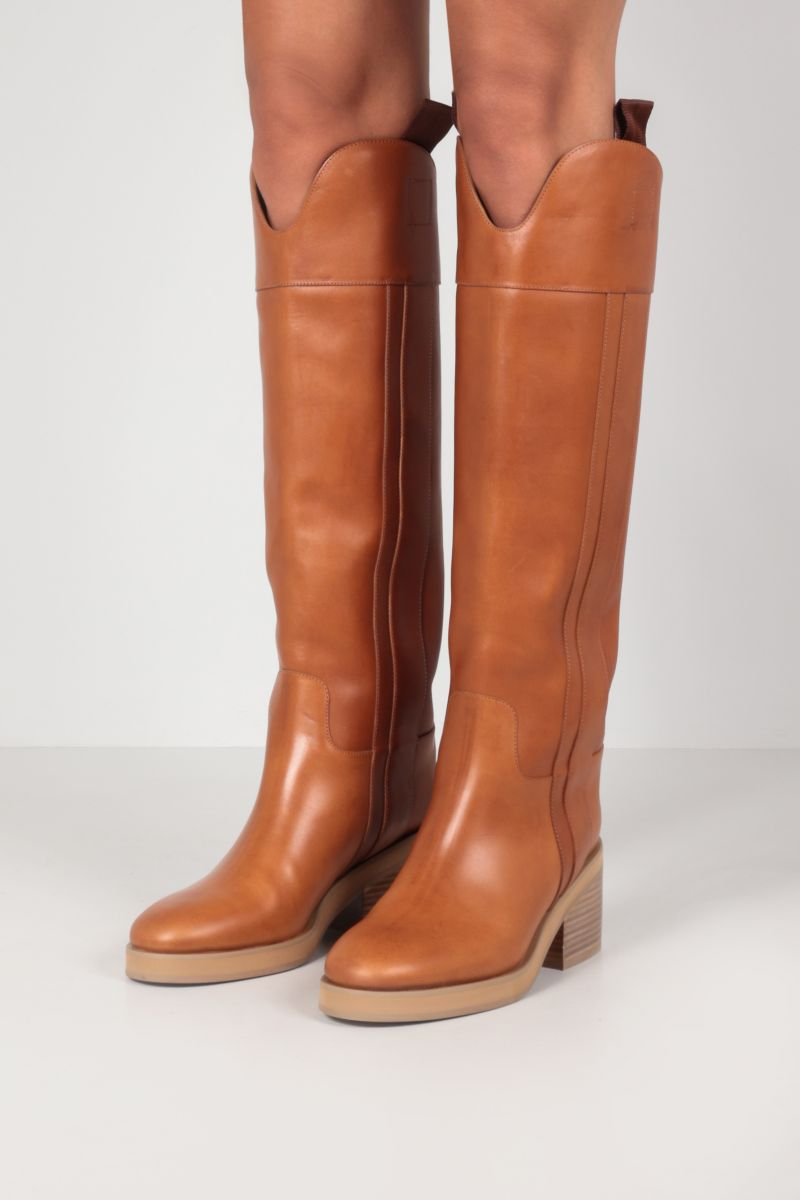 JIMMY CHOO: Tonya smooth leather boots Color Brown_2