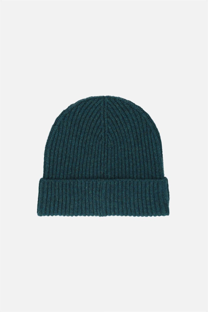 KENZO: Tiger Crest ribbed wool beanie Color Blue_2