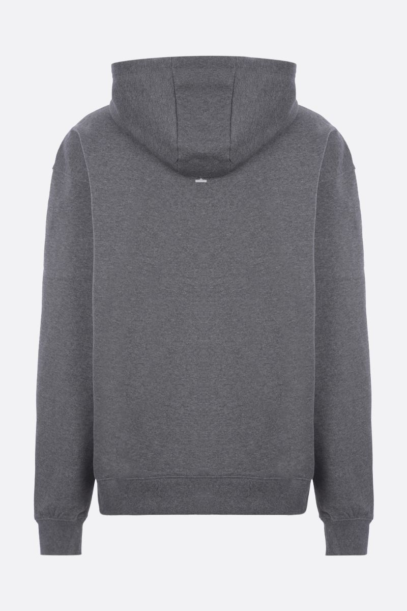 KENZO: logo embroidered oversize organic cotton hoodie Color Grey_2