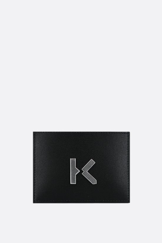 KENZO: Kenzo K smooth leather card case Color Black_1