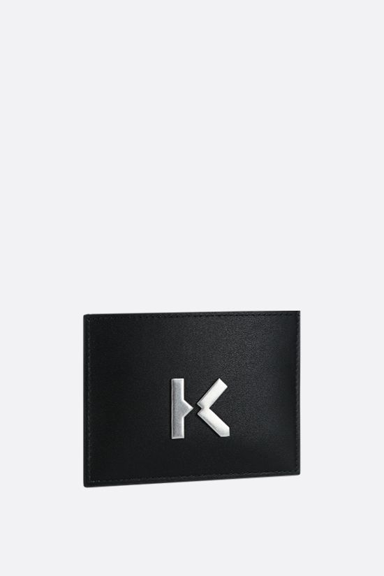 KENZO: Kenzo K smooth leather card case Color Black_2