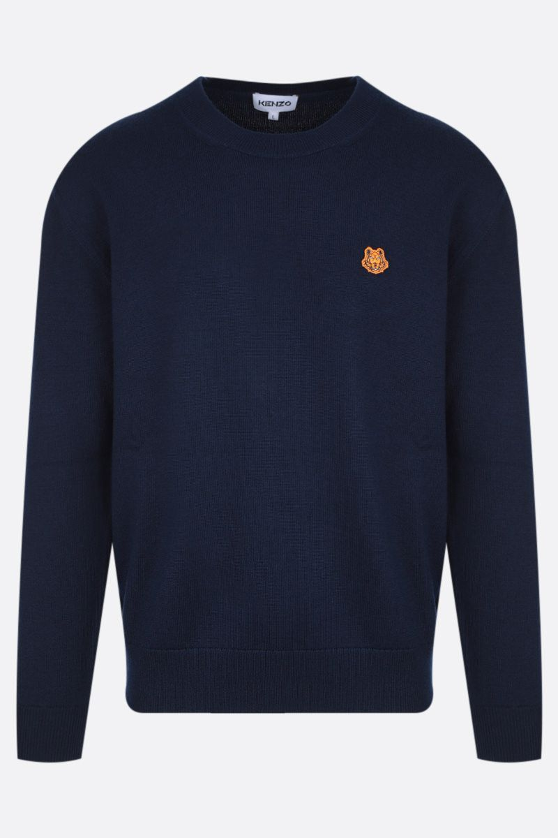 KENZO: Tiger Crest wool pullover Color Blue_1