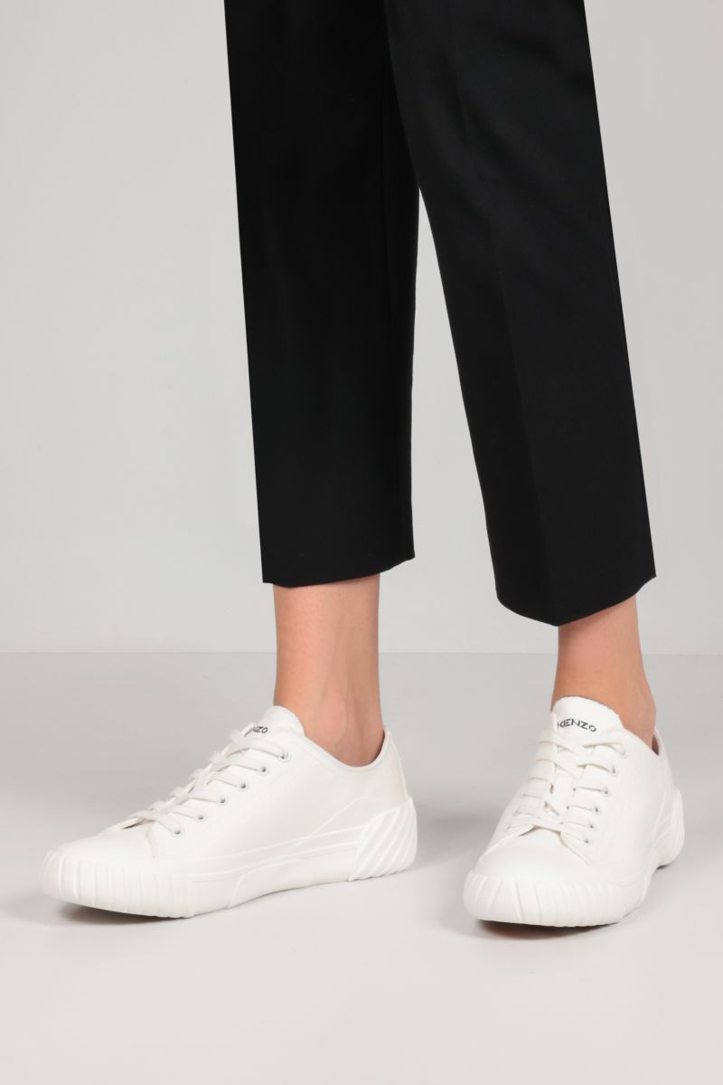 KENZO: Tiger Crest canvas sneakers Color White_2