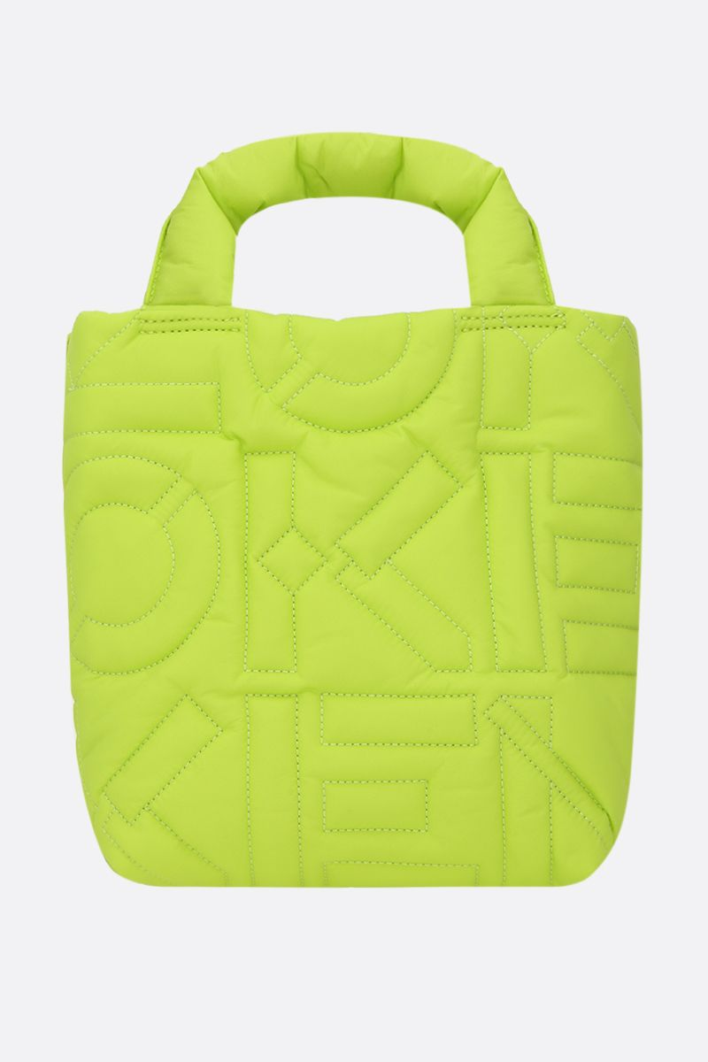 KENZO: Arctik small quilted nylon tote bag Color Green_1
