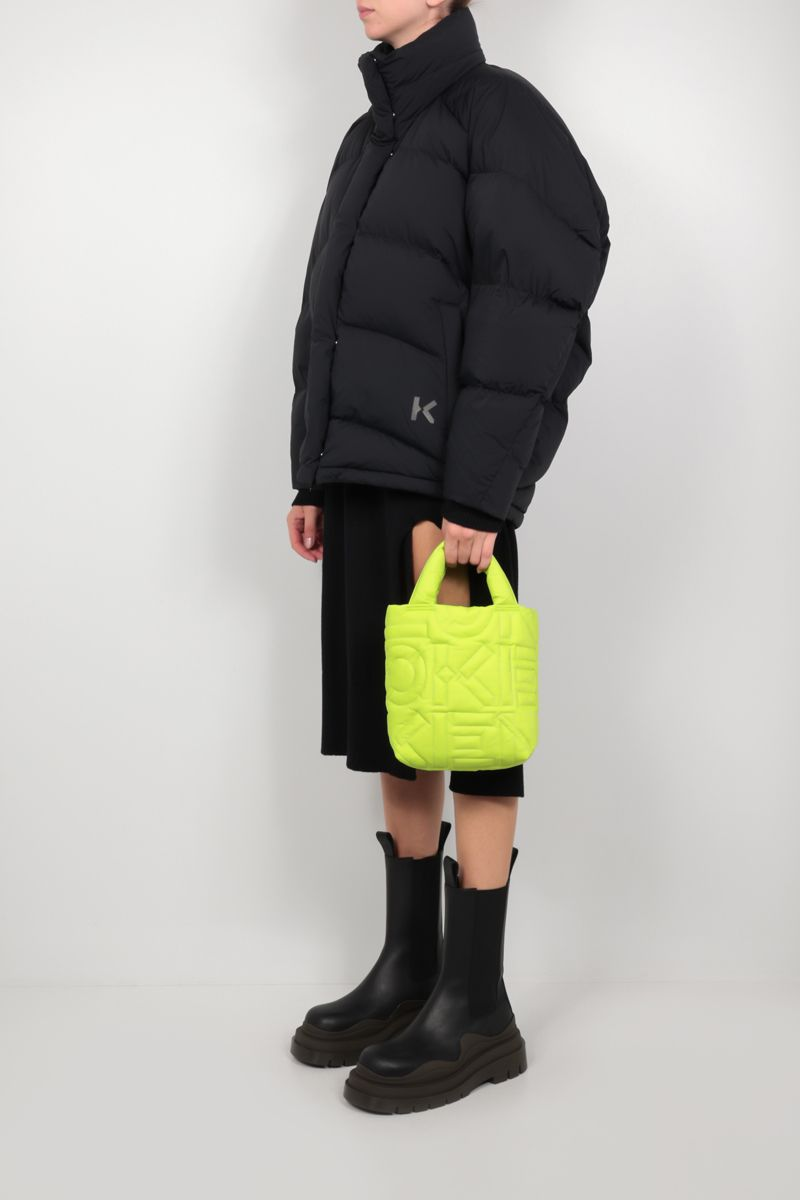 KENZO: Arctik small quilted nylon tote bag Color Green_2