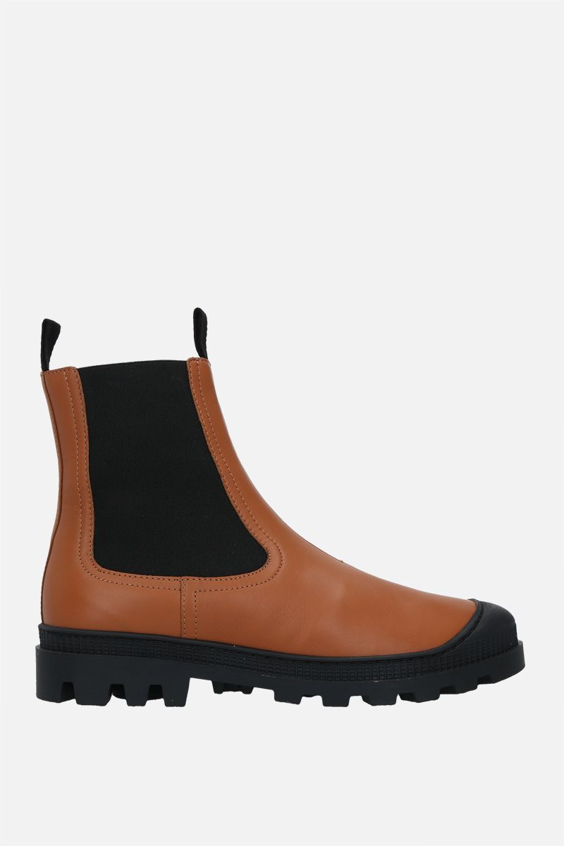 LOEWE: smooth leather chelsea boots Color Brown_1