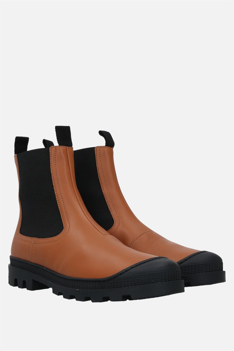 LOEWE: smooth leather chelsea boots Color Brown_2