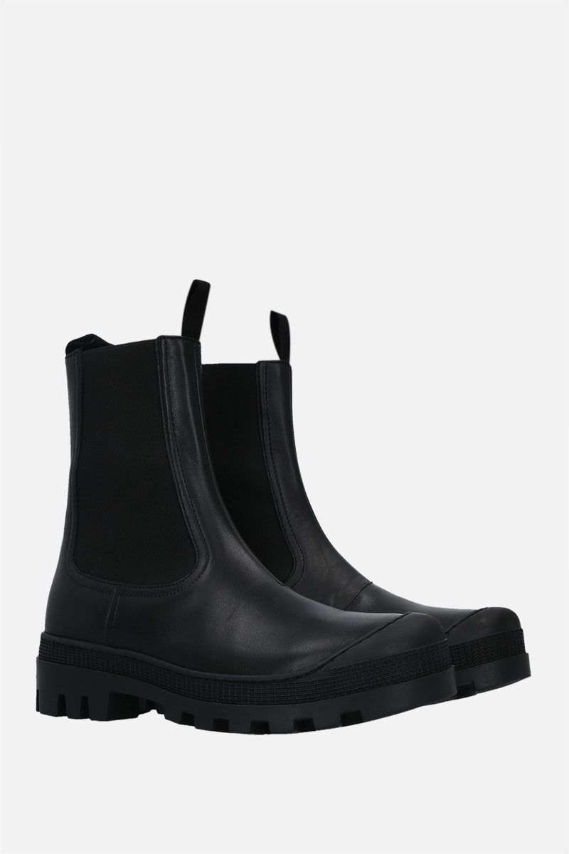 LOEWE: smooth leather chelsea boots Color Black_3