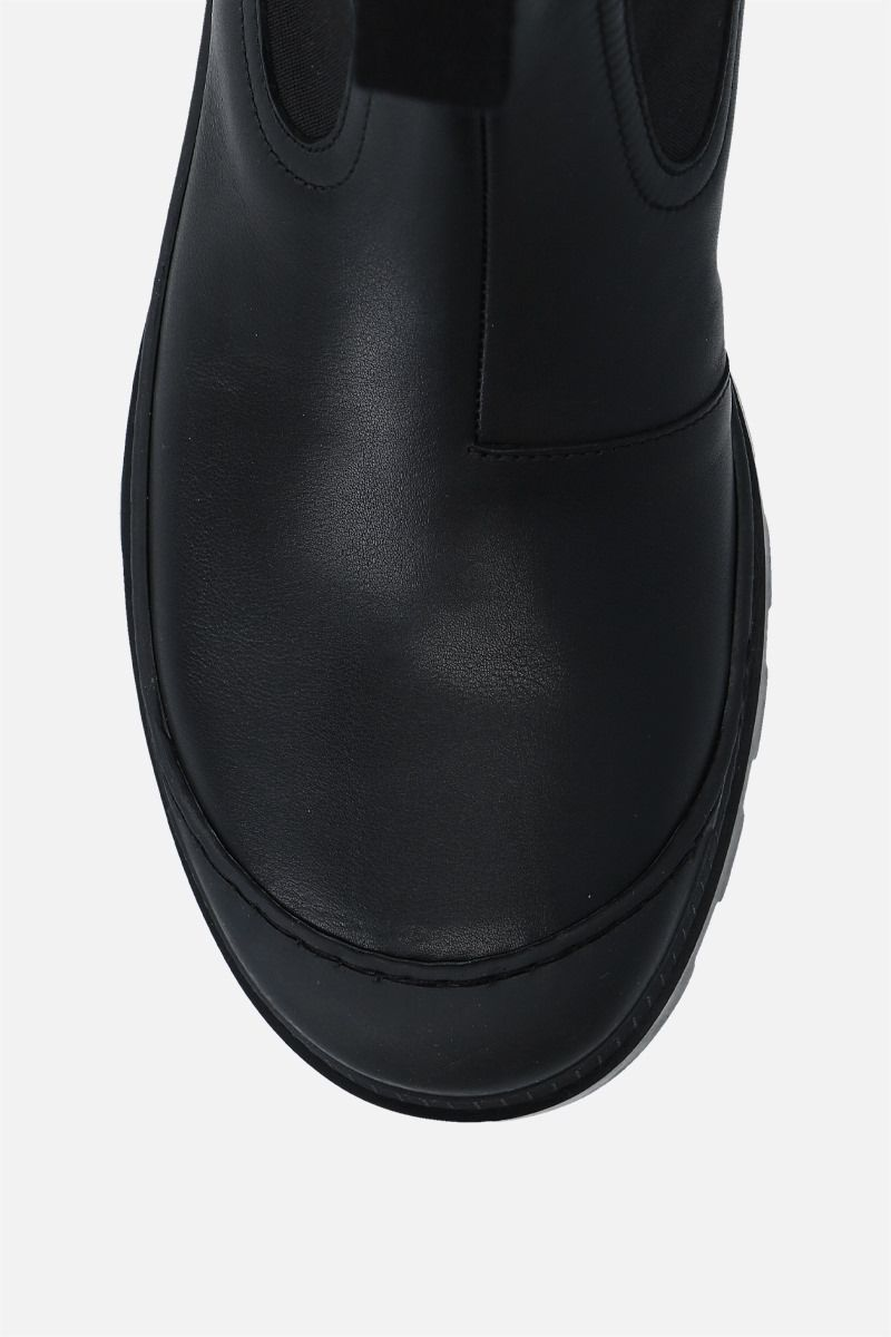 LOEWE: smooth leather chelsea boots Color Black_5