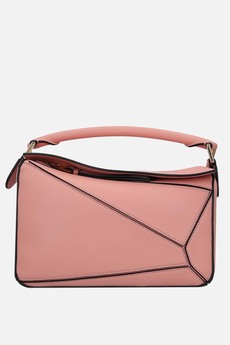 LOEWE: Puzzle small handbag in Classic leather Color Pink_1