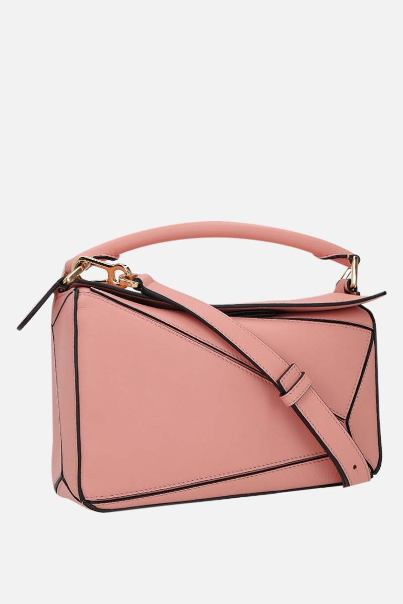 LOEWE: Puzzle small handbag in Classic leather Color Pink_2