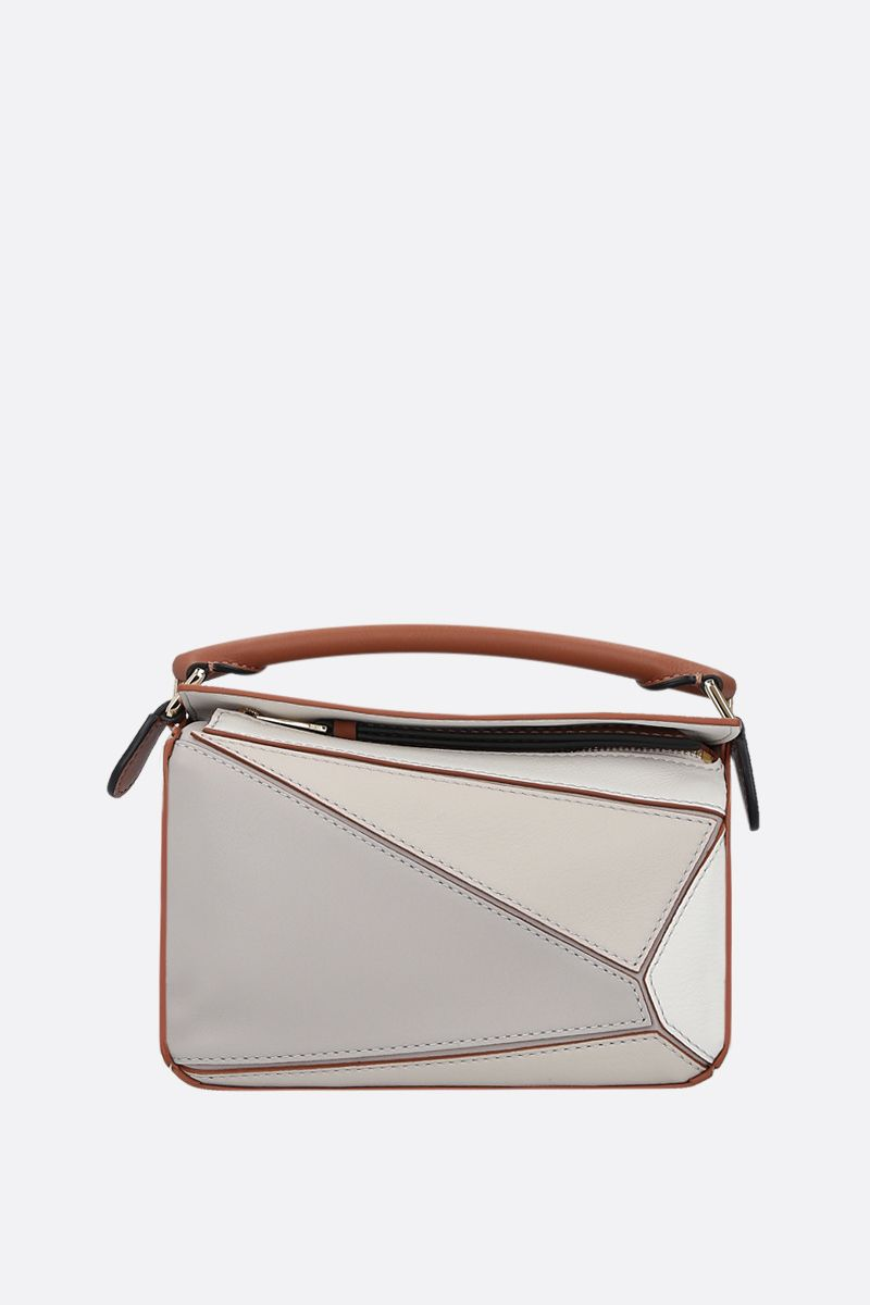 LOEWE: Puzzle mini top handle bag in Classic leather Color White_1