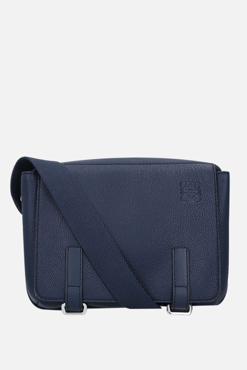 LOEWE: Military XS grainy leather messenger bag Color Blue_1