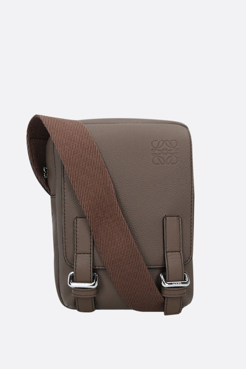 LOEWE: MIlitary XS grainy leather crossody bag Color Green_1