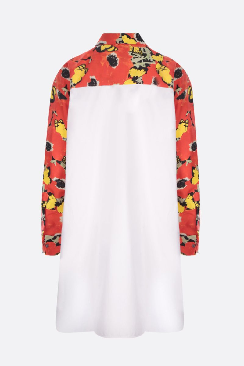 LOEWE: Pansies oversize shirt in silk and cotton Color Red_2