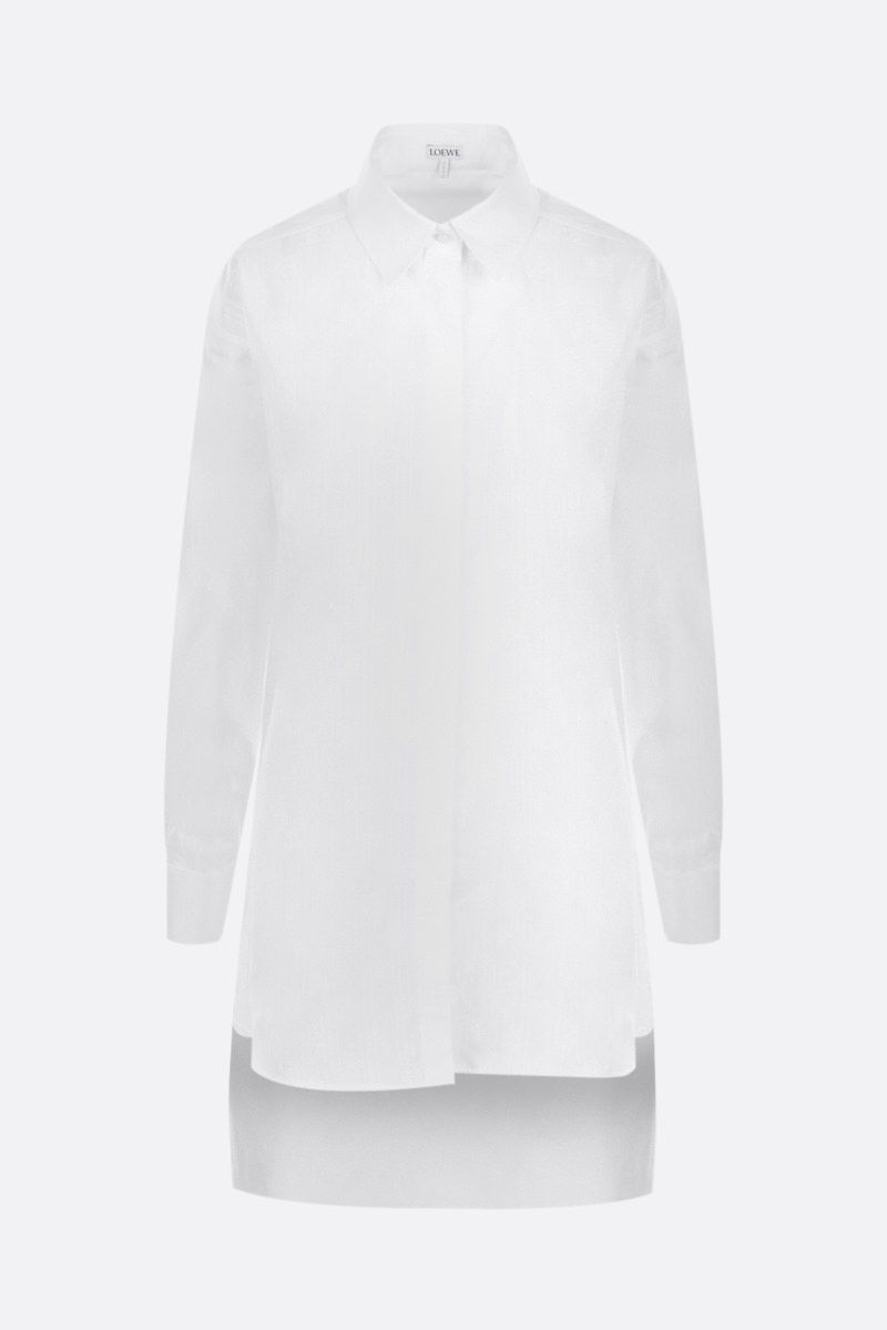 LOEWE: Anagram oversize shirt in jacquard and poplin Color White_1