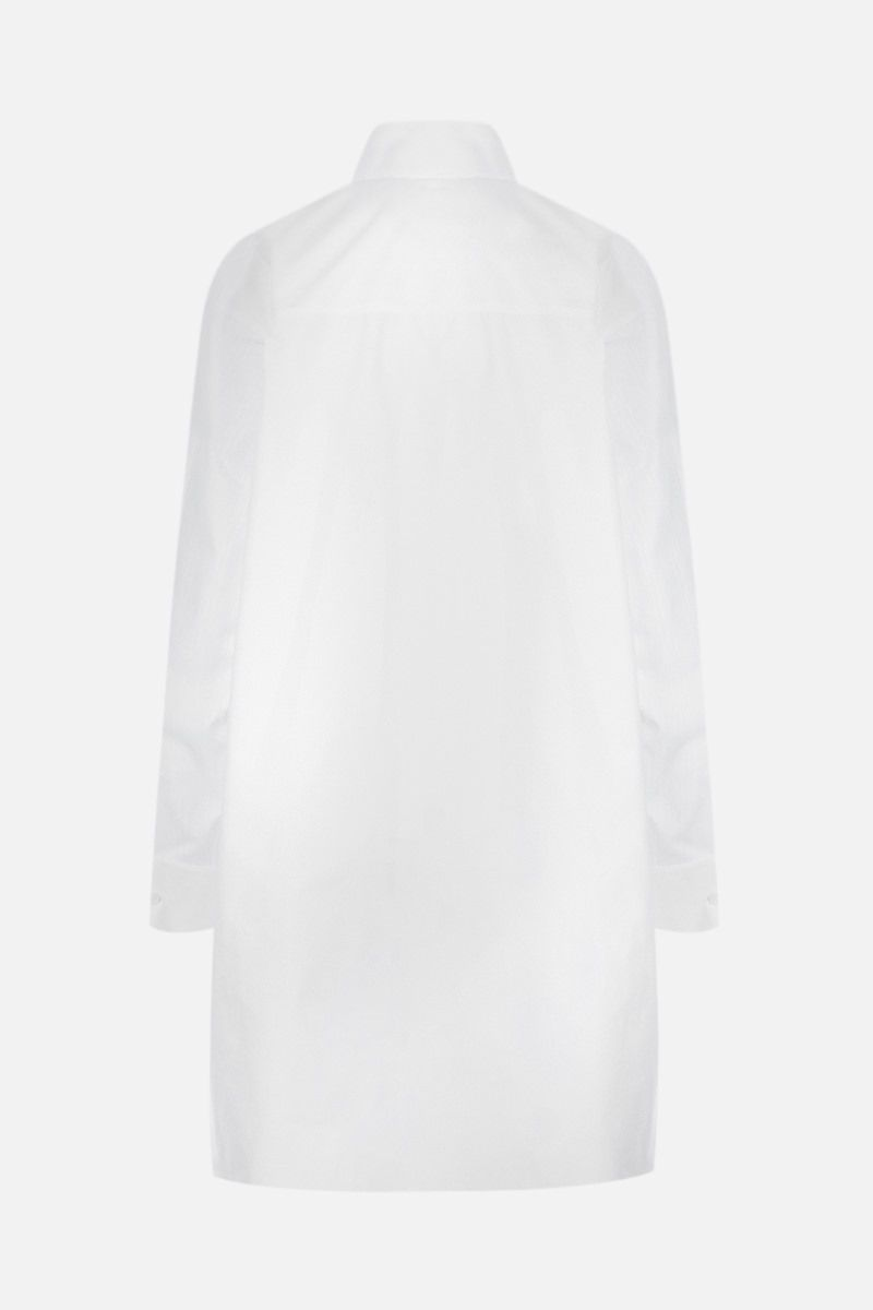 LOEWE: Anagram oversize shirt in jacquard and poplin Color White_2