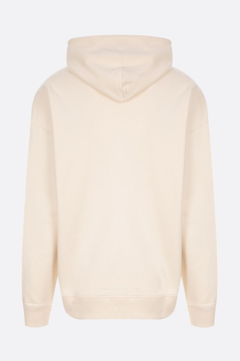 LOEWE: Anagram patch cotton hoodie Color White_2