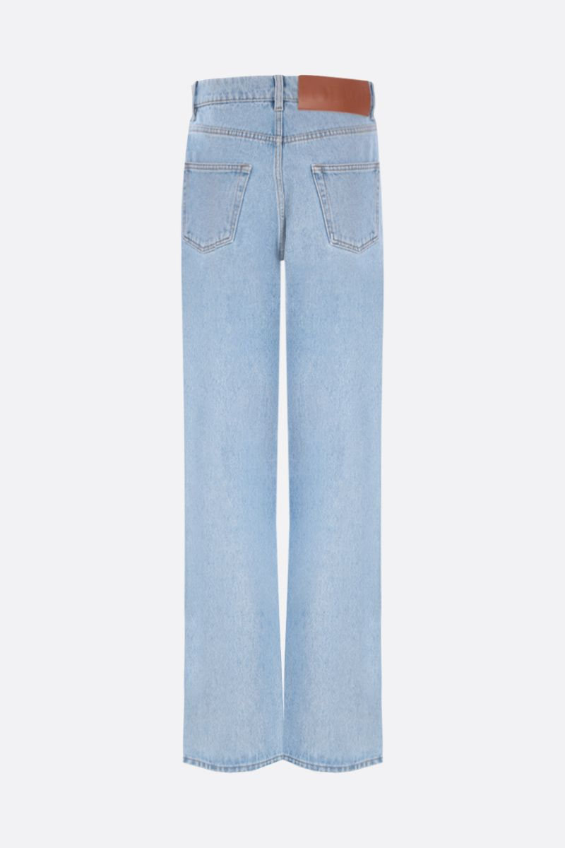 LOEWE: Anagram cut-out straight-leg jeans Color Blue_2