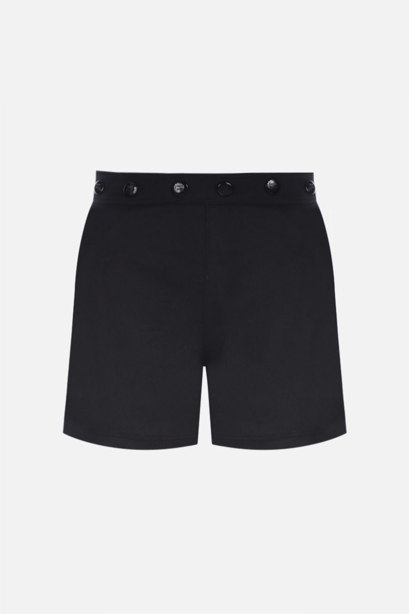 LOEWE: buttoned wool shorts Color Black_1