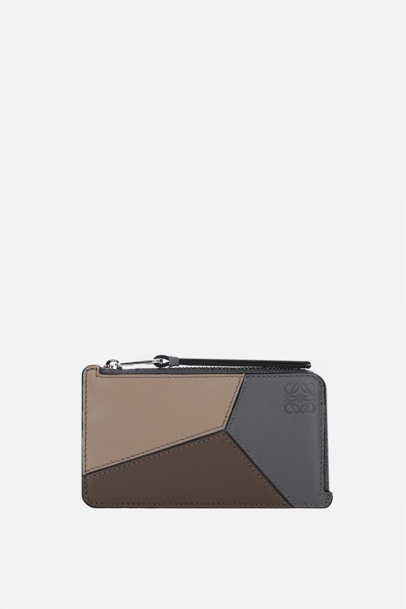 LOEWE: Puzzle zipped card case in Classic leather Color Multicolor_1