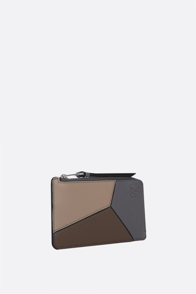 LOEWE: Puzzle zipped card case in Classic leather Color Multicolor_2