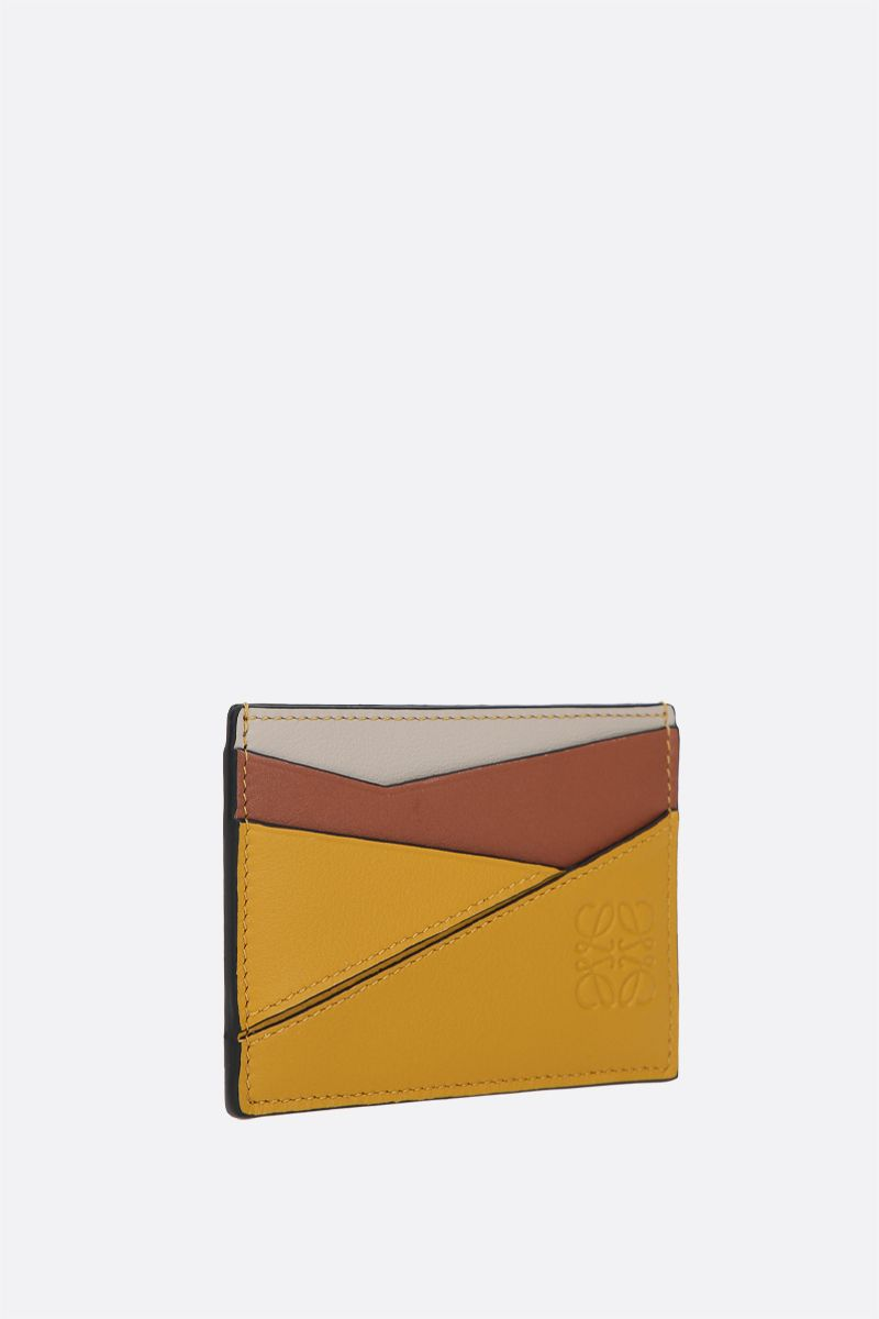 LOEWE: Puzzle card case in Classic leather Color Yellow_2