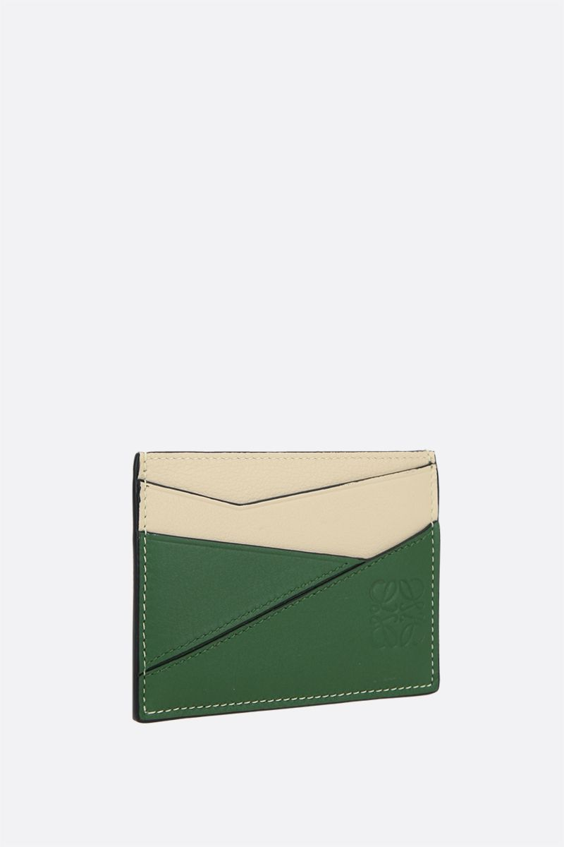 LOEWE: Puzzle card case in Classic leather Color Green_2