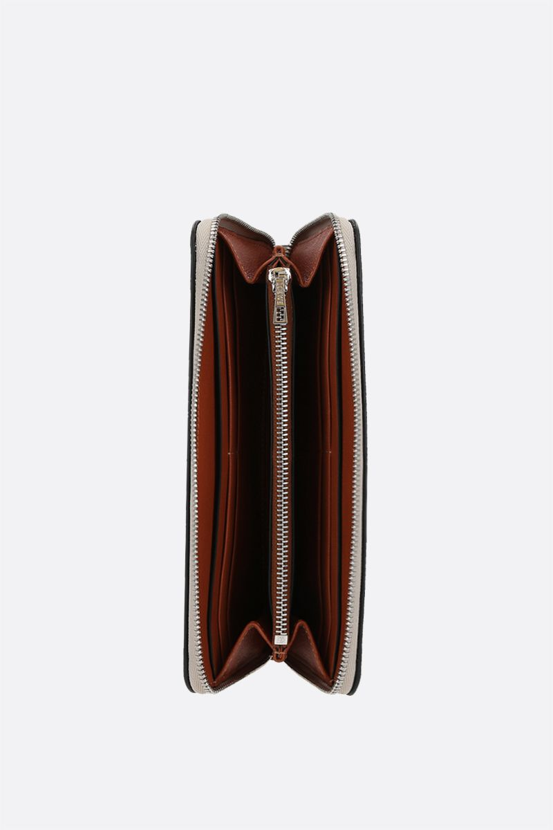 LOEWE: Brand zip-around wallet in Classic leather Color Brown_2