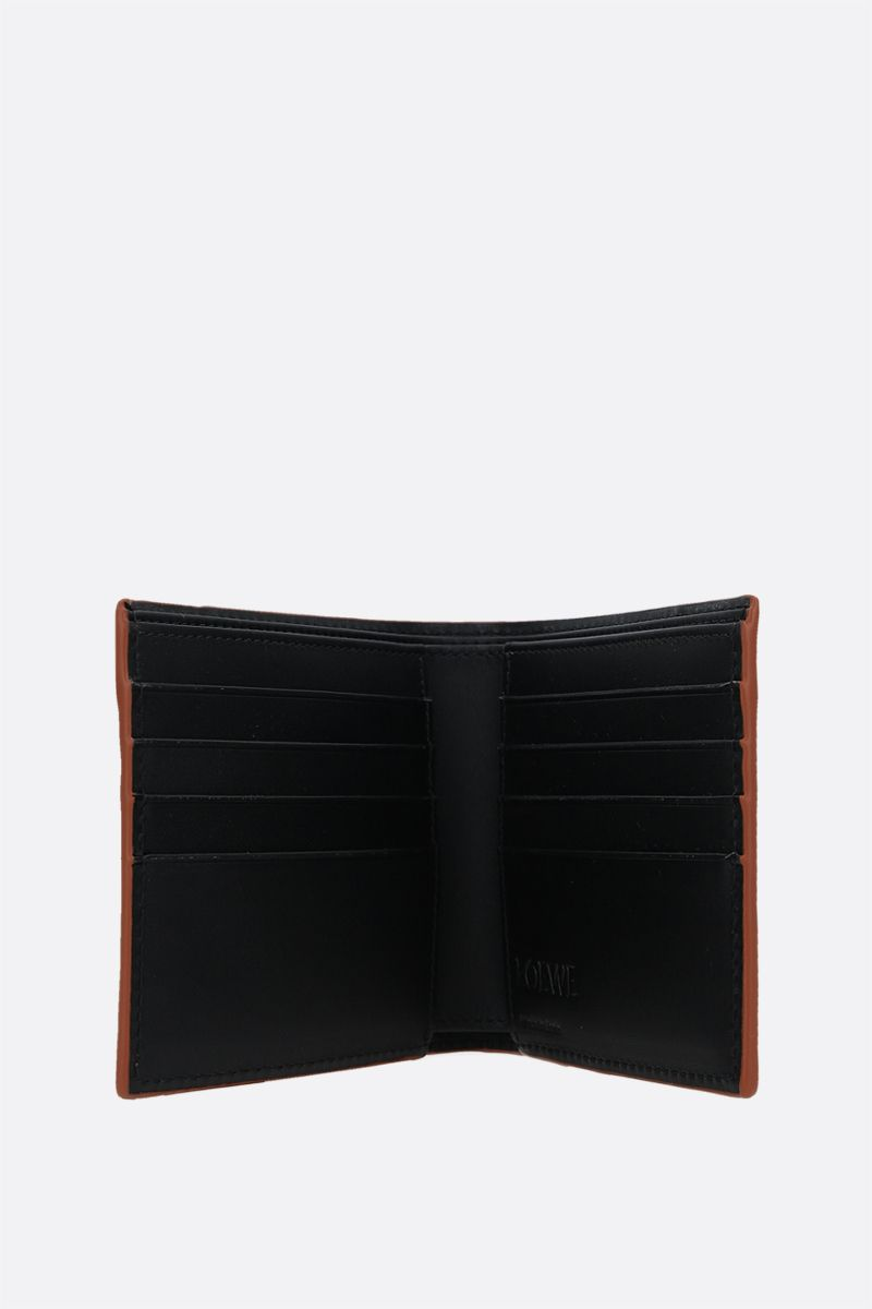 LOEWE: Puzzle smooth leather bifold wallet Color Black_2